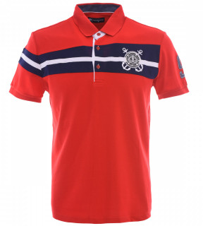 Tricou Polo Barbati Regular fit Tony Montana - Sailor-rosu