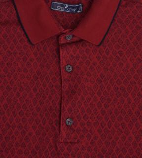 Tricou Polo Regular fit- grena cu imprimeu