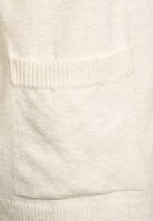Cardigan din tricot gros cu buzunare - alb