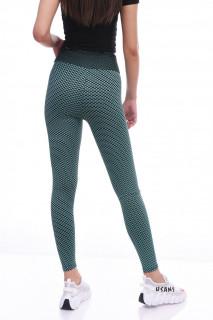 Colanti fitness cu talie inalta si efect modelator Britney--turcoaz-