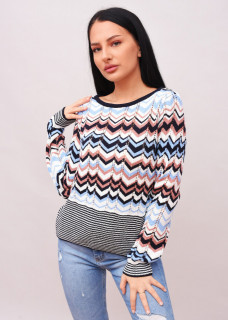 Pulover multicolor in zig-zag