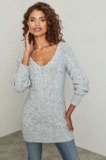 Pulover texturat din tricot gros - E-