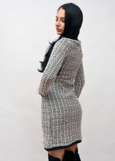 Rochie din tricot gros si insertii de sclipici