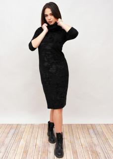 Rochie lunga din catifea cu guler