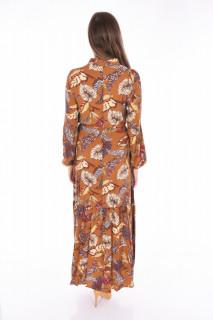 Rochie lunga vaporoasa cu imprimeu floral
