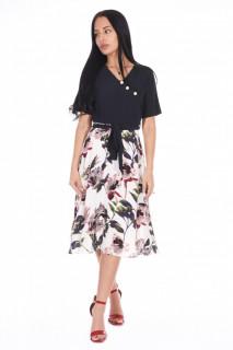 Rochie midi eleganta cu imprimeu floral LORA