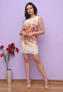 Rochie mini cu imprimeu floral - rosu-E-