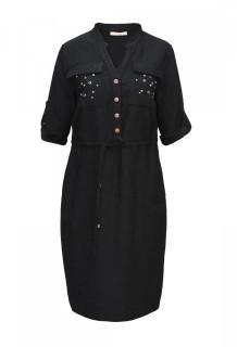 Rochie neagra cu aplicatii -marimi mari-