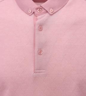 Tricou Polo Barbati Regular fit Tony Montana cu imprimeu - roz