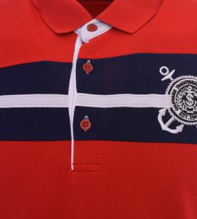 Tricou Polo Barbati Regular fit Tony Montana - Sailor-rosu