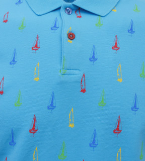 Tricou Polo Barbati Regular Fit Tony Montana- Sea Club-bleu