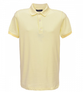 Tricou Polo Regular fit- galben deschis