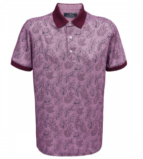 Tricou Polo Regular fit- mov cu imprimeu