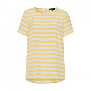 Bluza dama de vara in dungi galbene/albe