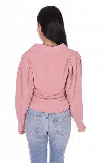 Camasa eleganta cu maneci bufante-roz-