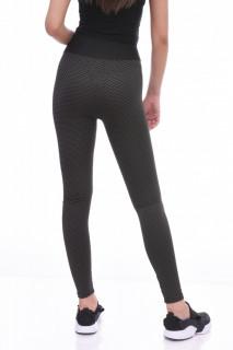 Colanti fitness cu talie inalta si efect modelator Britney--kaki--