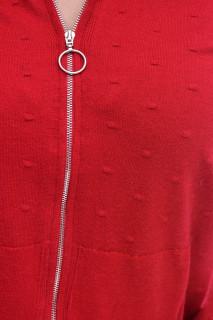 Pulover cu gluga din tricot fin -grena-E-