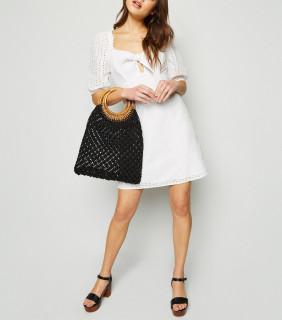 Rochie Alba Brodata New Look