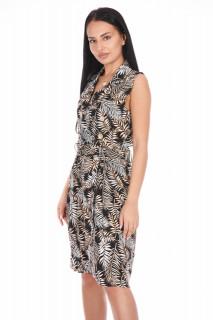 Rochie casual cu imprimeu-negru-E-