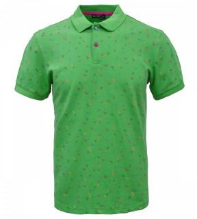 Tricou Polo Barbati Regular Fit Tony Montana- Waves-verde