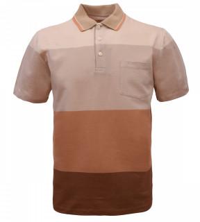Tricou Polo Barbati Regular Fit Wellalux cu dungi - bej