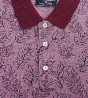 Tricou Polo Regular fit- mov cu imprimeu