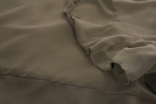 Bluza eleganta cu un croi mulat suprapunere cu voal-kaki-