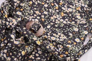 Camasa cu imprimeu floral si maneci 3/4-negru-