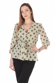 Camasa dama eleganta cu buline - verde-