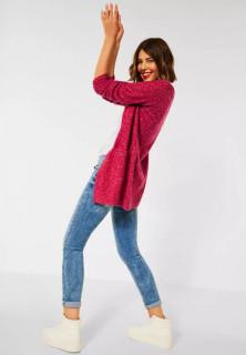 Cardigan din tricot gros cu buzunare - burgundy