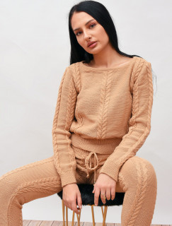 Compleu dama tricotat camel