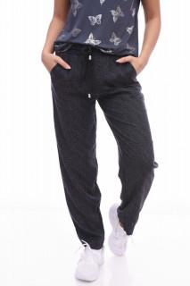 Pantaloni casual/ sport - gri cu imprimeu-