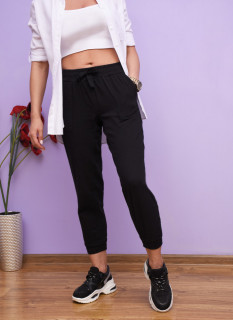 Pantaloni jogger din bumbac-negru