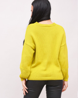 Pulover lime oversize