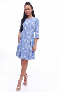 Rochie midi cu imprimeu floral Adda - albastru