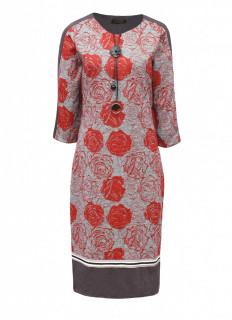 Rochie midi cu imprimeu floral -marimi mari-
