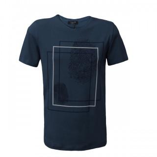 Tricou Barbati Casual La Pante bleumarin