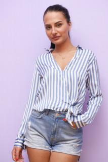 Bluza dama cu dungi stransa cu in lateral
