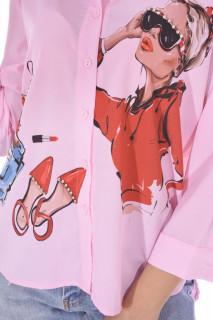 """Camasa casual """" Love Fashion """"-roz-"""