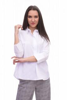 Camasa dama casual asimetrica Karol - alba -