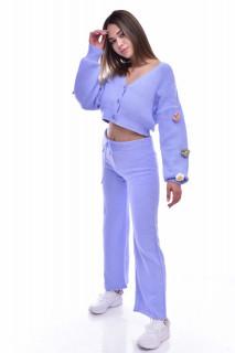Compleu dama Gia din tricot - doua piese- bleu