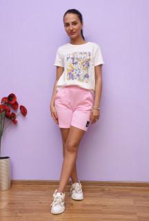 Pantaloni scurti casual- roz