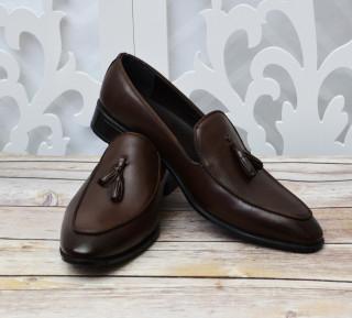 Pantofi Piele Maro Cu Canafi
