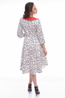 Rochie cu imprimeu-Gladys-negru-