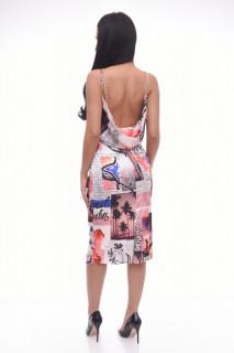 Rochie midi cu imprimeu geometric