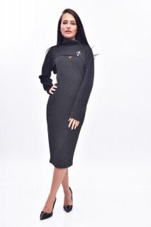 Rochie midi eleganta cu bolero - negru