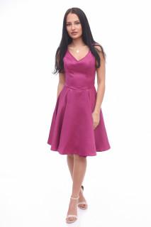 Rochie midi eleganta in clos burgundy