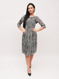 Rochie plisata cu imprimeu