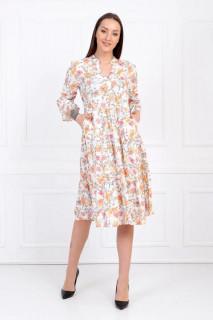 Rochie tunica cu imprimeu floral-bej-