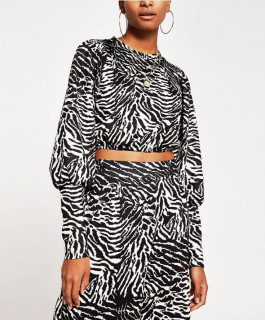 Top animal print River Island